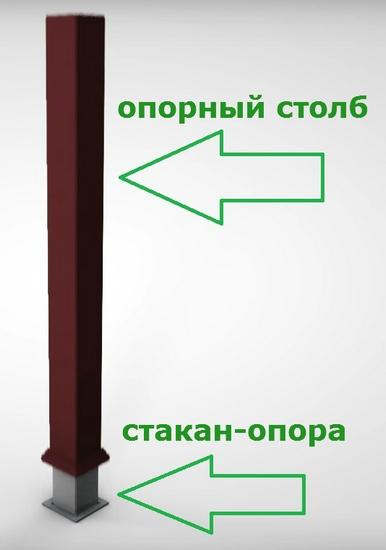 Стакан-опора Holzhof для декоративного ограждения